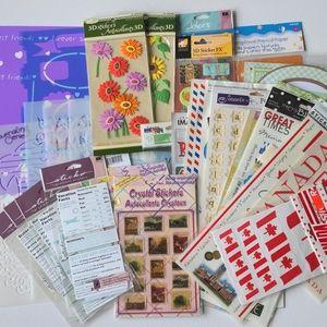 Sticker & Stencil Scrapbooking Bundle